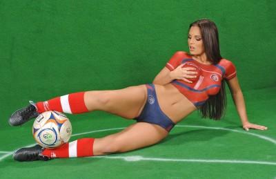 Футбольный женский бодиарт ЧМ-2006 Группа А Коста-Рика