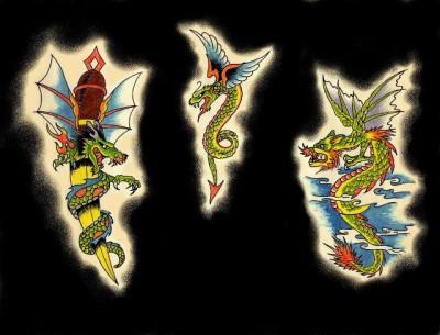 Эскизы татуировки дракона, крылатый дракон, эскиз тату клинка с драконом