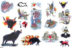 Татуировка буйвола, тату утки, дональд дак, tatto лебедя в каалоге татуировок