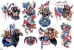 Картинки татуировок викингов, нож с драконом, кинжал с драконом в каталоге татуировок