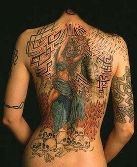 Кибер-стиль в татуировании