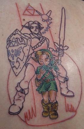 Раскраска татуировки