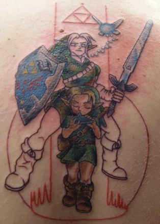 Татуировка еще немного кровоточит