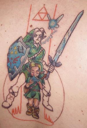 Фотография татуировки на следующий день