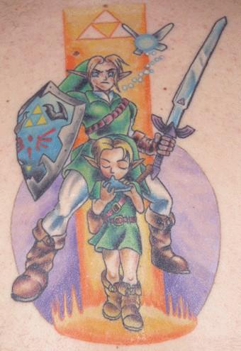 Заключительный вид татуировки Legend of Zelda
